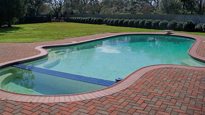 How to surround your pool 3 pool paving treatments for Swimming pool surrounds design